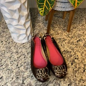 Lilly Pulitzer Leopard Print Patent Leather Flats
